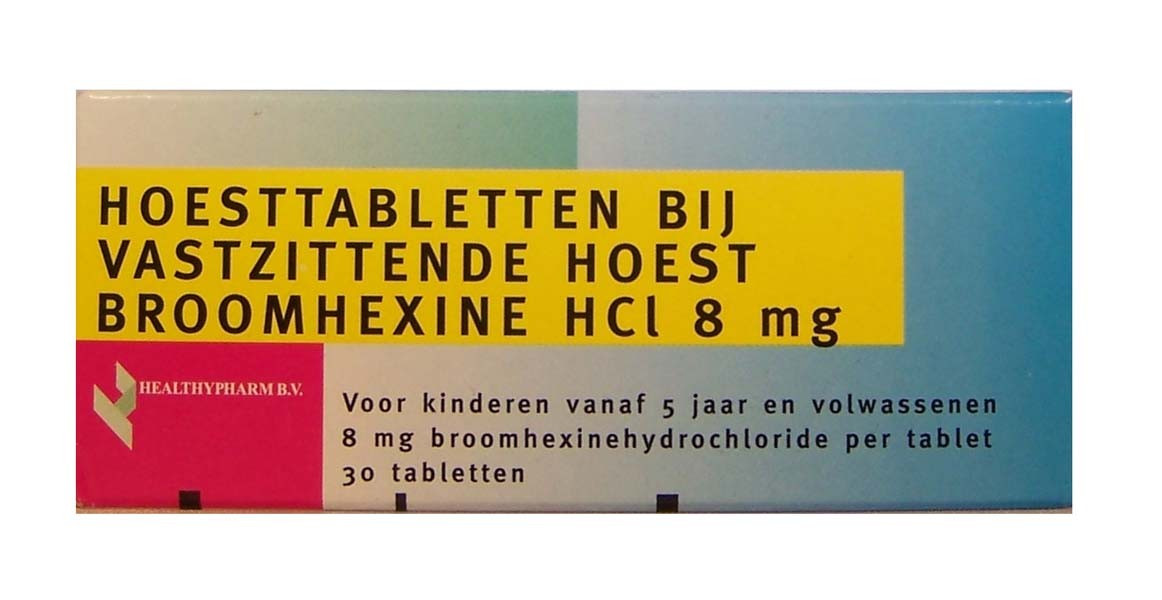 Healthypharm Hoesttablet Broomhexine HCl 8 mg