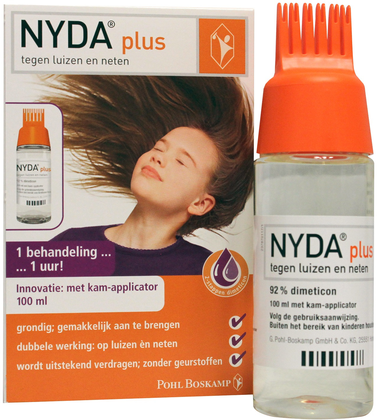 NYDA plus met kam-applicator
