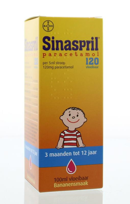 Sinaspril Paracetamol Stroop 120mg/5ml