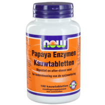 NOW Papaya Enzymen Kauwtabletten