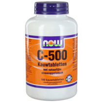 NOW Vitamine C-500 Kauwtabletten Sinaasappel